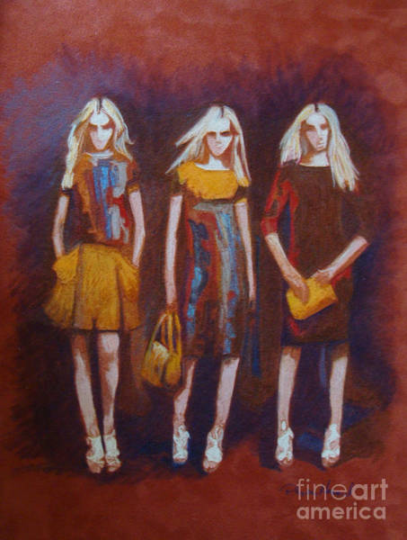 Painting - On The Catwalk by Phyllis Howard
