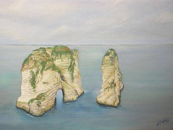 Painting - On The Edge Of Lebanon by Joe Dagher