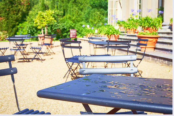 Metal Furniture Photograph - Outdoor Cafe by Tom Gowanlock