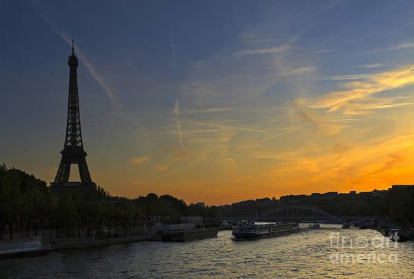 Wall Art - Photograph - Parisian Sunset. by Louise Heusinkveld