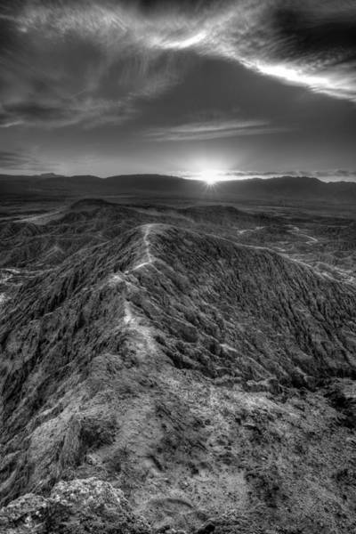 Photograph - Path To The Sun   Black And White by Peter Tellone