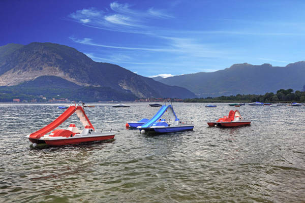 Pedal Wall Art - Photograph - Pedal Boats On Lake Maggiore by Joana Kruse
