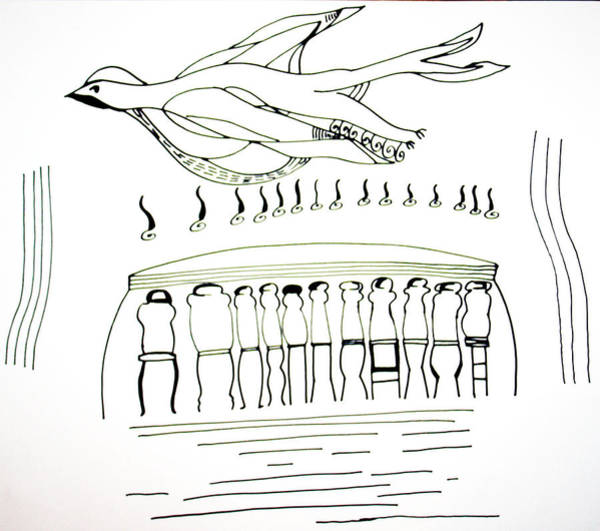 Holy Ghost Drawing - Pentecost by Gloria Ssali