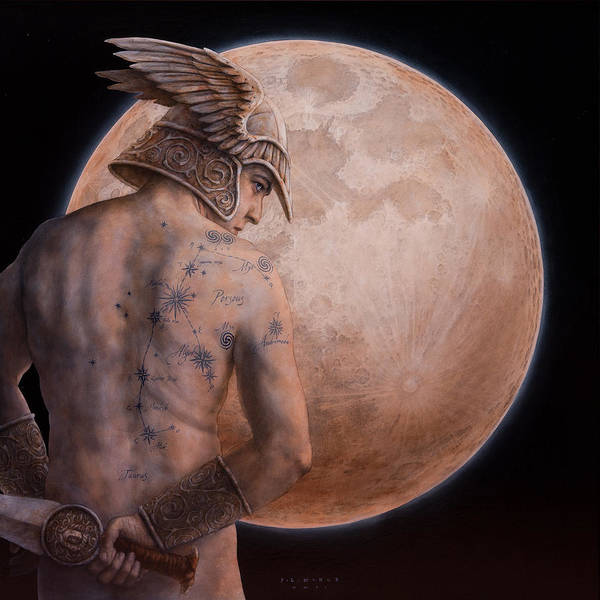 Wall Art - Painting - Perseus by Jose Luis Munoz Luque