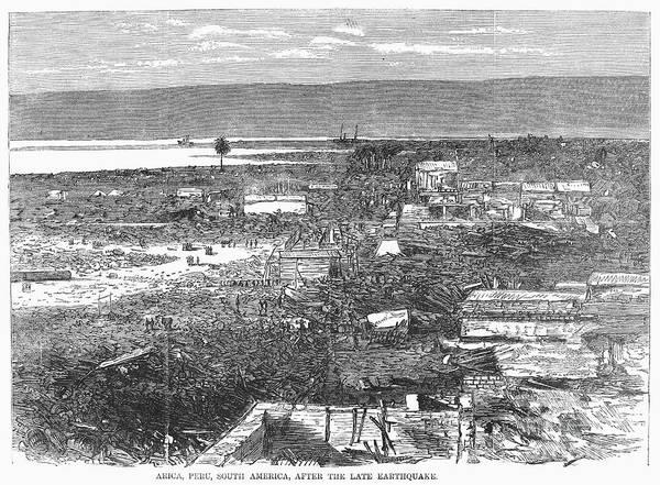 Arica Photograph - Peru: Earthquake, 1868 by Granger