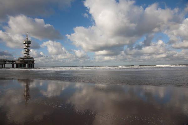 Scheveningen Pier Photograph - Pier At Scheveningen by Leo Keijzer