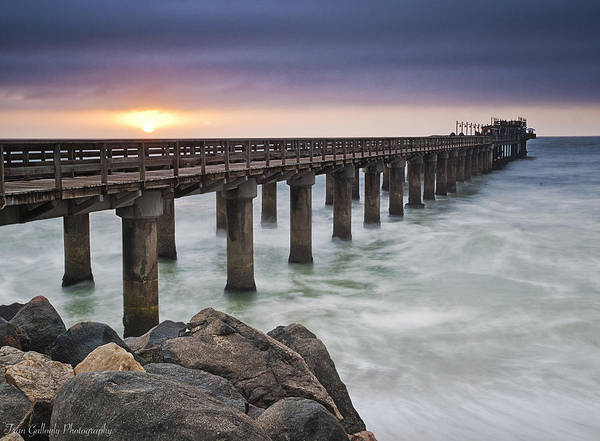 Wall Art - Photograph - Pier At Sunset by Fran Gallogly