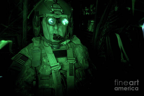 Kiowa Photograph - Pilot Equipped With Night Vision by Terry Moore