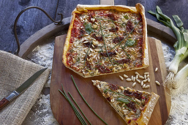 Pizza Photograph - Pizza With Herbs by Joana Kruse