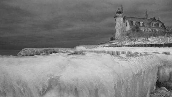 Photograph - Point Betsie Lighthouse In Winter by Randall Nyhof