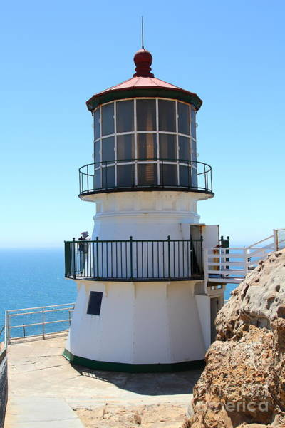 Pt. Reyes Photograph - Point Reyes Lighthouse In California 7d16008 by Wingsdomain Art and Photography