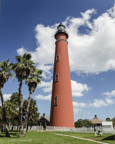 Photograph - Ponce Inlet Lighthouse by Mike Fitzgerald