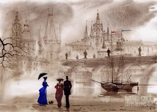 Wall Art - Painting - Prague II by Svetlana and Sabir Gadghievs