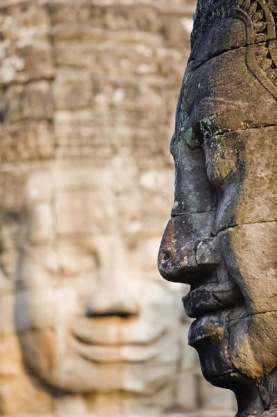 Wall Art - Photograph - Profile Of Avalokiteshvara Statue by Axiom Photographic