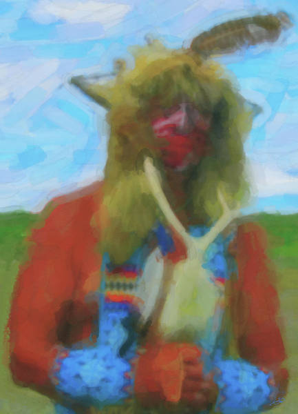 Digital Art - Proud Crow Warrior II by Gary Baird