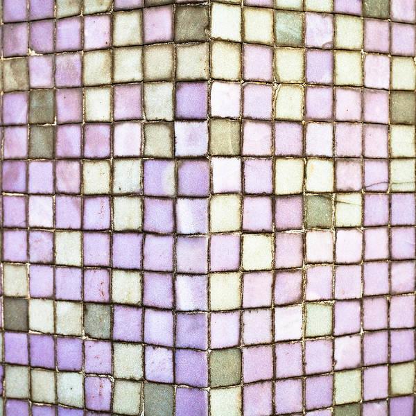 Filling Photograph - Purple Tiles by Tom Gowanlock