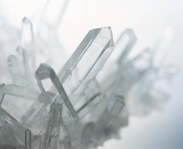 Wall Art - Photograph - Quartz Crystals by Lawrence Lawry