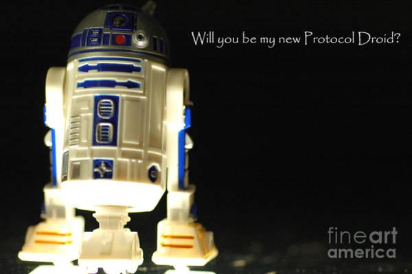 Star Wars Wall Art - Photograph - R2d2 Card by Micah May
