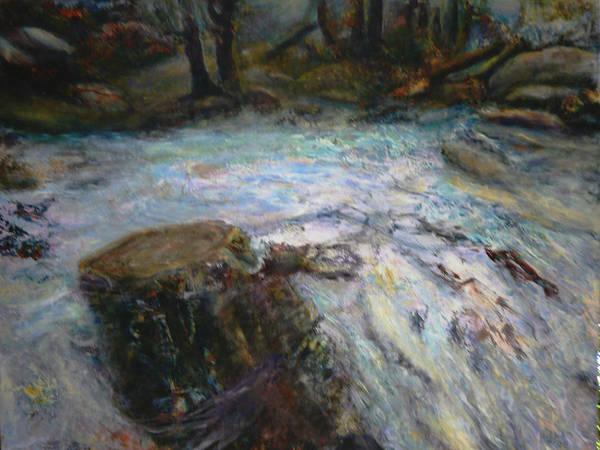 Raging River Art Print by Sylva Zalmanson