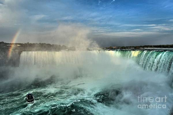 Niagara Falls State Park Photograph - Rainbow Over The Maid by Adam Jewell