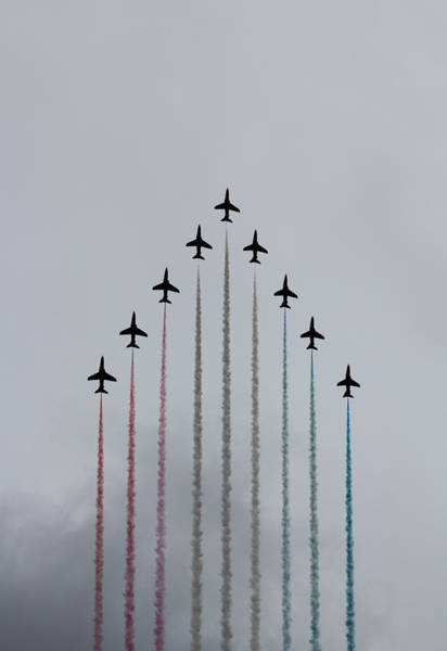 Red Arrows Photograph - Red Arrows Vertical by Jasna Buncic