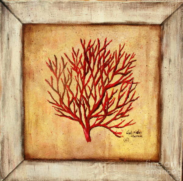Wall Art - Painting - Red Coral by Gabriela Valencia