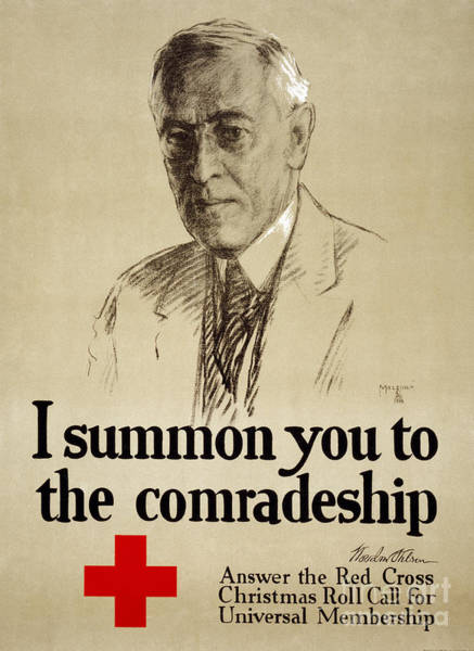 Membership Photograph - Red Cross Poster, 1918 by Granger