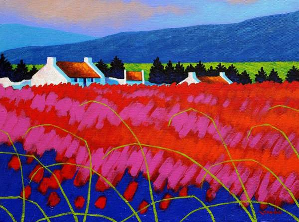 Wall Art - Painting - Red Meadow by John  Nolan