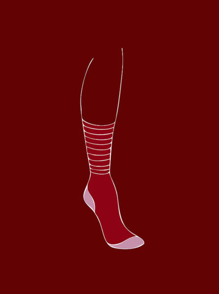 Wardrobe Wall Art - Painting - Red Sock by Frank Tschakert