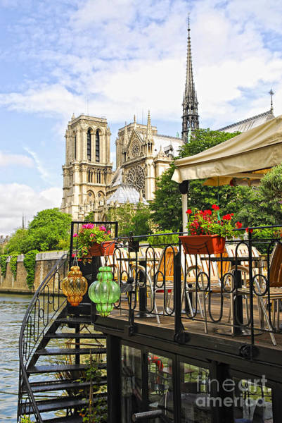 Wall Art - Photograph - Restaurant On Seine by Elena Elisseeva