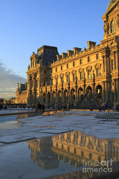 Cours Photograph - Richelieu Wing Of The Louvre Museum In Paris by Louise Heusinkveld