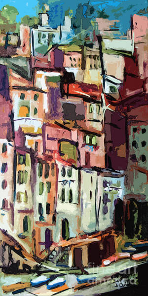 Painting - Riomaggiore Italy Cinque Terre  by Ginette Callaway
