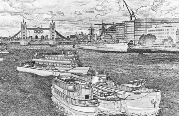 River Thames Digital Art - River Thames Art by David Pyatt