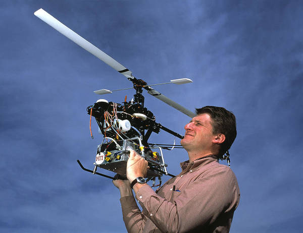 Copter Photograph - Robotic Helicopter by Volker Steger