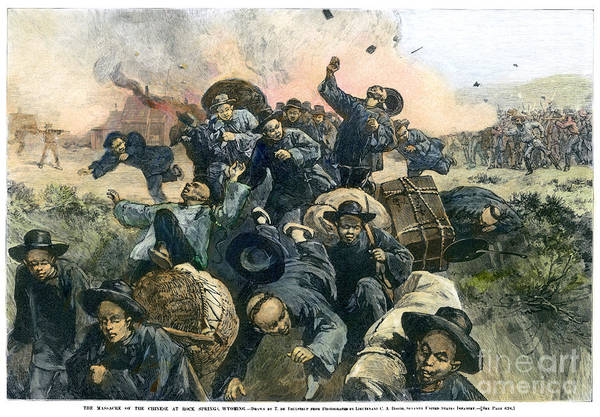 Coolie Photograph - Rock Springs Massacre by Granger