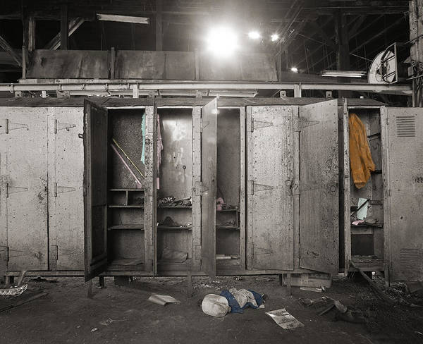 Roundhouse Photograph - Roundhouse Lockers by Jan W Faul