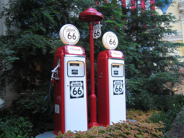 Photograph - Route 66 Gas Pump by John Shiron