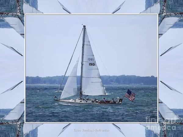 Photograph - Sailboat At Erie Basin Marina by Rose Santuci-Sofranko