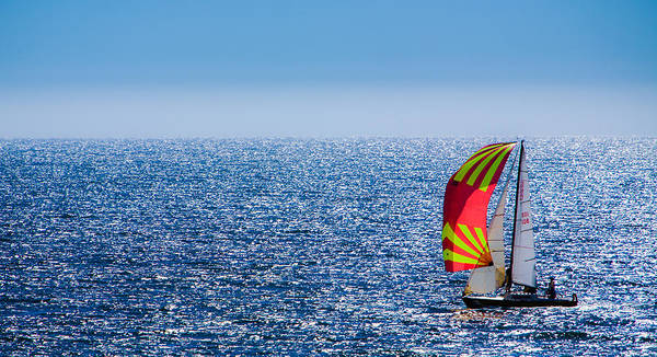 Monterey Bay Photograph - Sailing On Monterey Bay by Tommy Farnsworth
