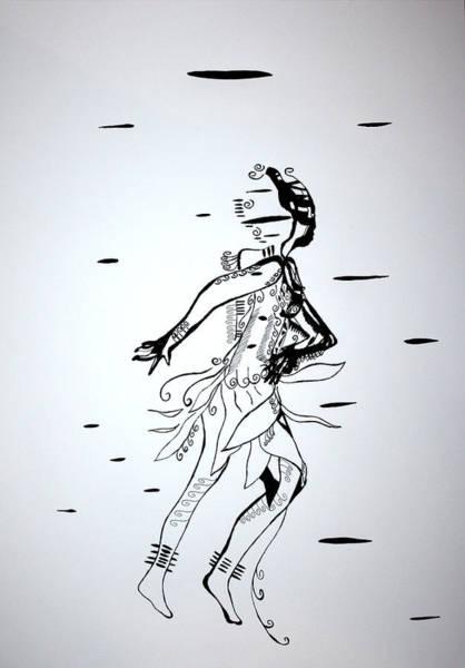 Drawing - San Dance - Botswana by Gloria Ssali