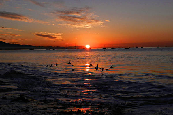 Photograph - Santa Barbara East Beach Sunrise 3 by Sheila Kay McIntyre