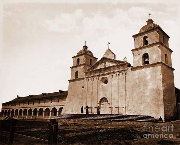 Mission Santa Barbara Photograph - Santa Barbara Mission by Pg Reproductions