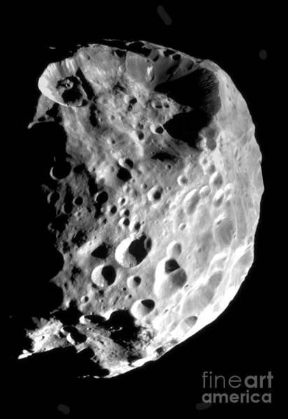 Flyby Photograph - Saturns Moon Phoebe by NASA Science Source