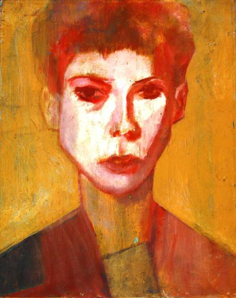 Selfportrait Painting - Self Portrait by Anita Dale Livaditis