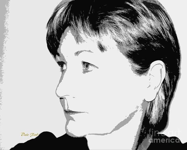 Digital Art - Self Portrait by Dale   Ford
