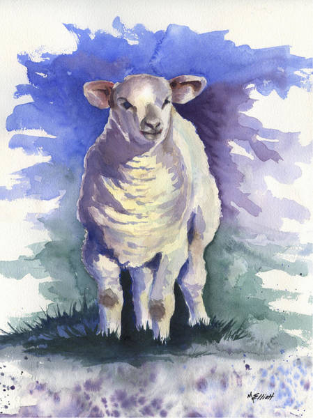 Sheep Painting - Shellies Lamb by Marsha Elliott