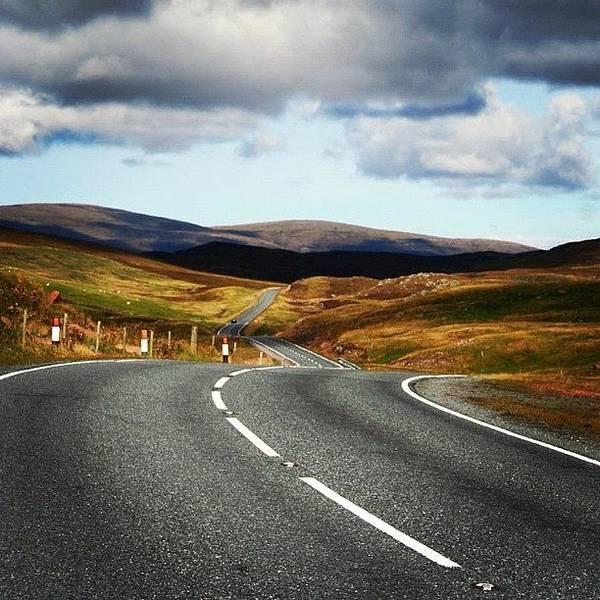 Road Photograph - #shetland's Road by Luisa Azzolini