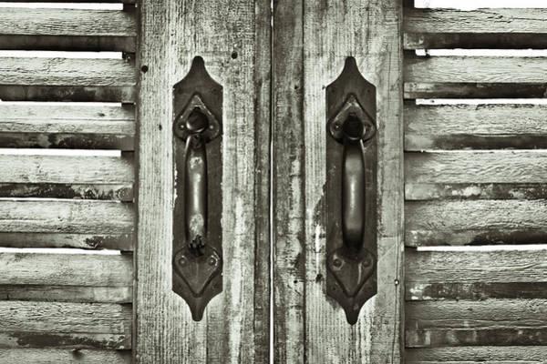 Latch Wall Art - Photograph - Shutters by Tom Gowanlock
