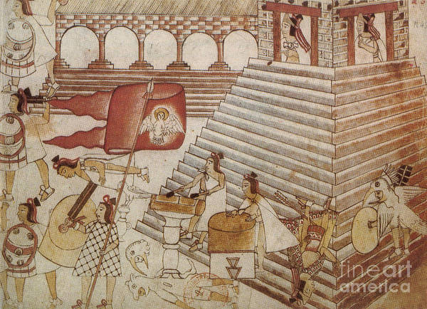 Photograph - Siege Of Tenochtitlan 1521 by Photo Researchers