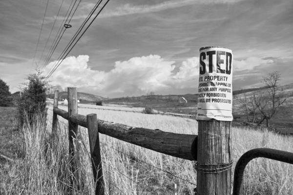 Fence Post Photograph - Signs by Betsy Knapp